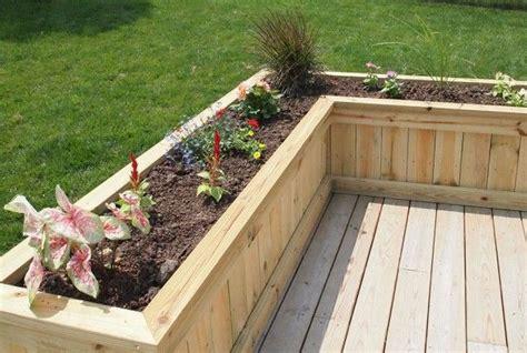 Planter Box Deck by Built In Deck Planters Deck Planter Flower Box Sawdust Therapy Garden