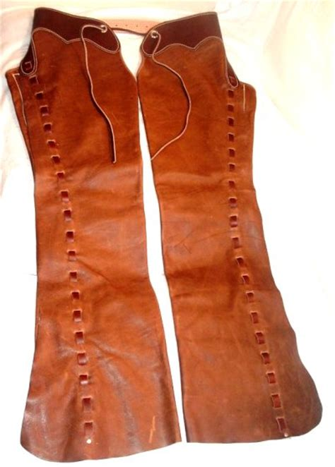Handmade Cowboy Chaps - handmade chaps and chinks west gun leather western