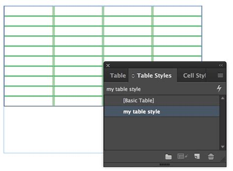 How To Set Column And Row Strokes In Table Styles Indesignsecrets Indesignsecrets Indesign Table Styles Templates Free