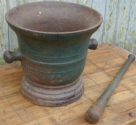 antique cast iron antiques atlas very large french cast iron pestle and mortar