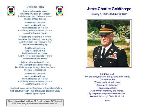 memorial service program template free memorial service programs sle memorial service