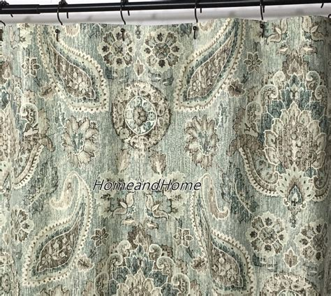 high end fabric shower curtains fabric shower curtain high end designer p kaufmann plazzo