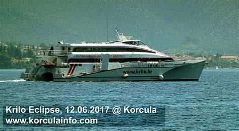 catamaran ferry krilo from dubrovnik to korcula krilo eclipse korcula 12 06 2017