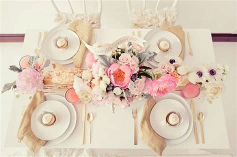 Pink And Gold Table Setting by Gold And Pink Table Setting Horchow Planning
