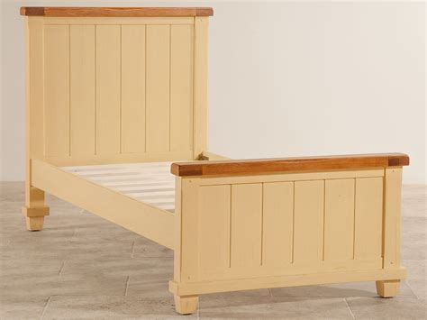 Shabby Chic Oak Bedroom Furniture shabby chic rustic oak and painted 3ft single bed
