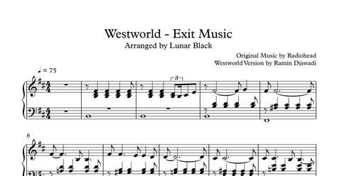 westworld piano  sheet   sheet