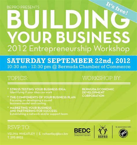 bepro s building your business workshop bernews bernews