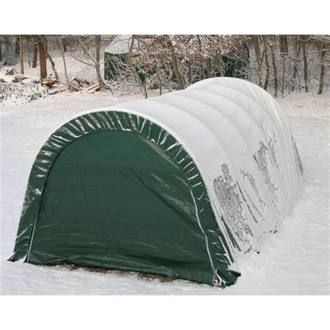 Portable Garage Shelter Rhino Shelter Style Portable Garage 12 X 20 X 8