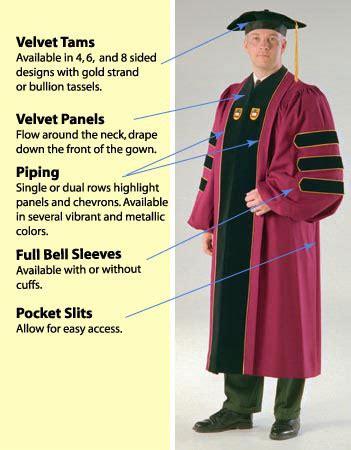 academic colors quality academic doctoral graduation regalia for sale