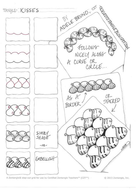 tangle pattern doodle 824 best zentangle tangles images on pinterest zentangle