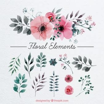 floral decoration floral decorations and page dividers vector free