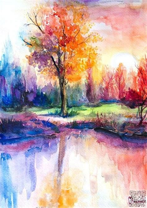 25 unique watercolor landscape paintings ideas on watercolour paint set watercolor