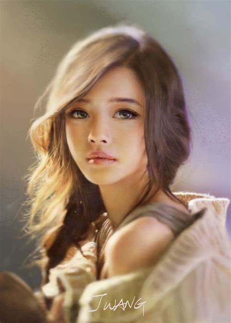 art little girl models digital painting inspiration vol 08 digital art