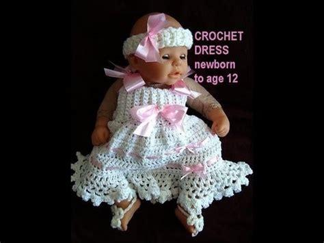 crochet baby dress pattern youtube how to crochet a sundress newborn to age 12 free crochet
