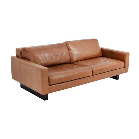 room and board leather sofa 66 room board room board 79 quot hess leather sofa