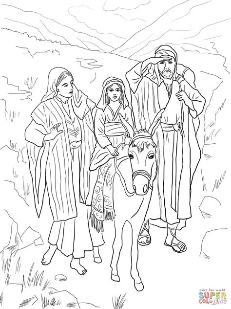 holy family coloring page cartoon coloring pages