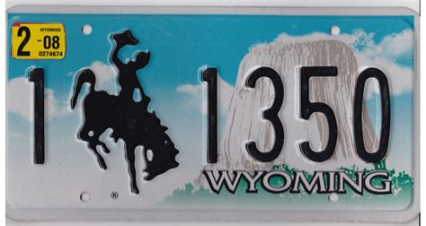 Wyoming Vanity Plates by Wyoming License Plates