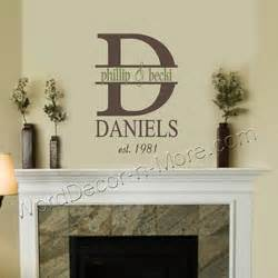 Personalized Home Decor Wall Designs Personalized Wall Monogram Date Established Wall Family Wall