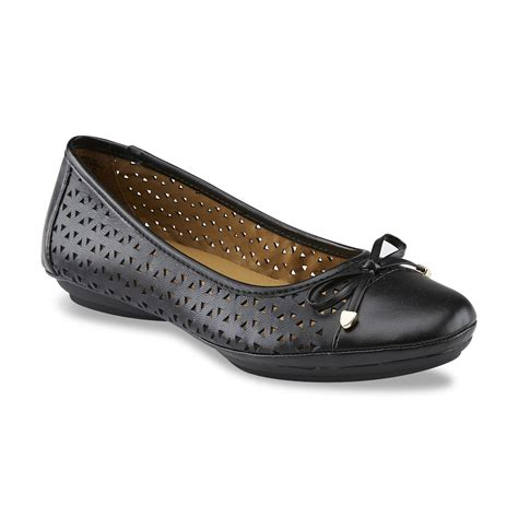 i love comfort shoes at sears i love comfort women s leather percy black ballet flat