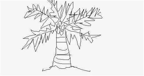 oyee ihiiir cara menggambar pohon kelapa