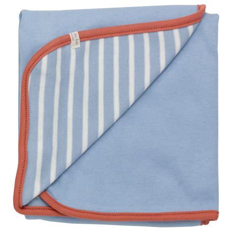Pigeon Organics Decke by Bio Baby Baumwolldecke Blau Rost Babydecke Baumwolle