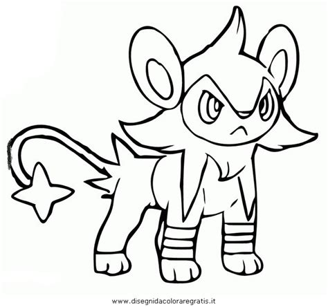 pokemon coloring pages shinx how to draw luxio