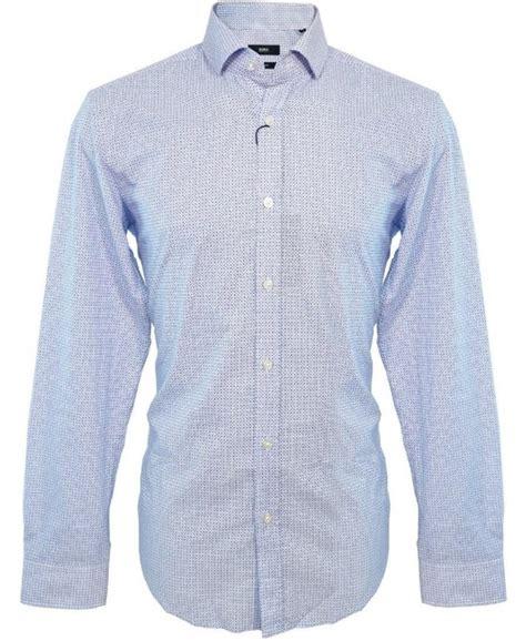 Hugo Boss Pattern T Shirt | hugo boss blue geo pattern mason shirt 50259191 shirts