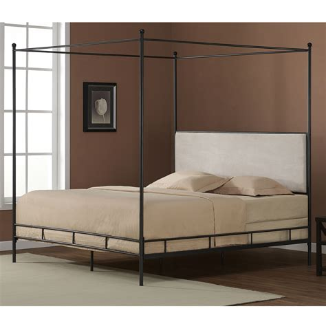 King Size Metal Headboard King Size Metal Canopy Bed Color Upholstered Headboard Ebay