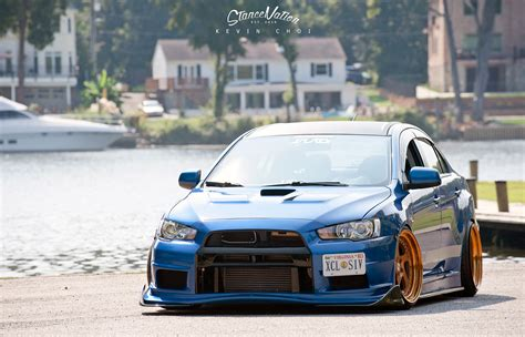 mitsubishi evo stance a cut above the rest mark enriquez s evo x