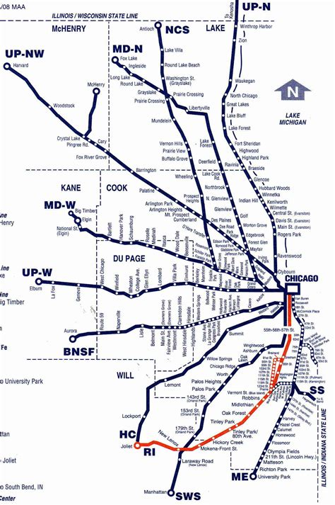 chicago metra map metra chicago map my