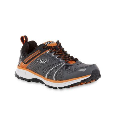 fila s tko tr gray orange black all terrain athletic