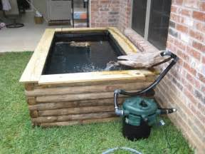 Landscape Timber Koi Pond New 300 Gal Above Ground Turtle And Koi Pond Pics