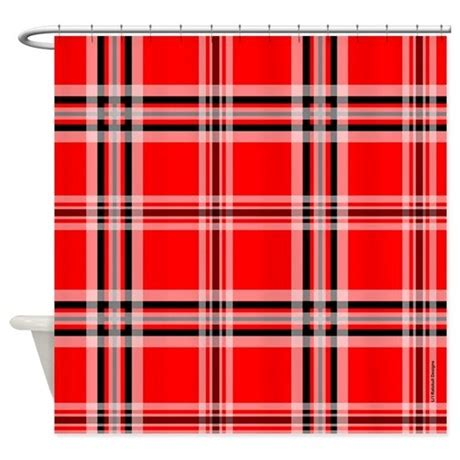 red and black plaid curtains red and black plaid shower curtain by rainbowhot