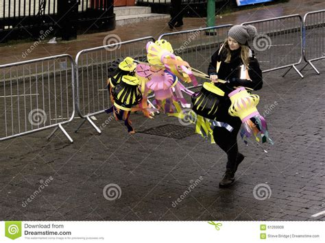 new year parade participants liverpool new year parade editorial image