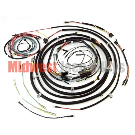 jeep part  complete cloth covered wiring harness kit    willys jeep cjb models