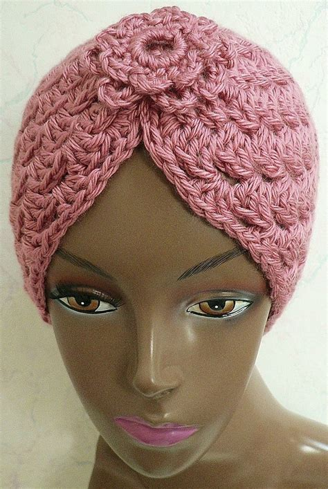 knitted turban pattern free crochet turban pattern with or without the flower