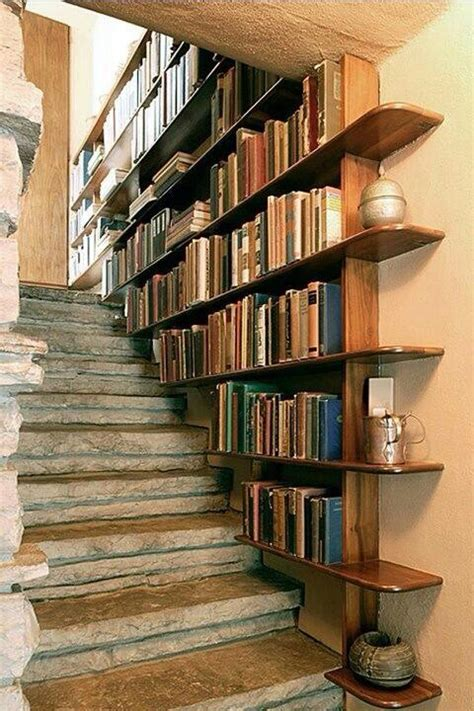 stair bookcase decor