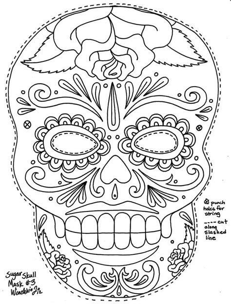 printable masks for day of the dead day of the dead skull coloring pages coloring home