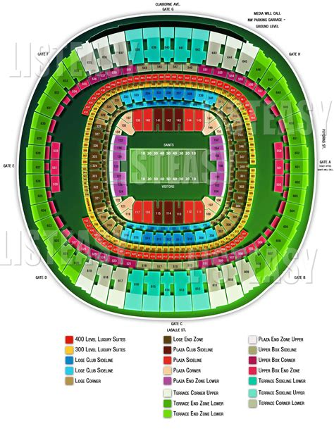 mercedes superdome seating 3d new orleans saints and superdome on seats 3d