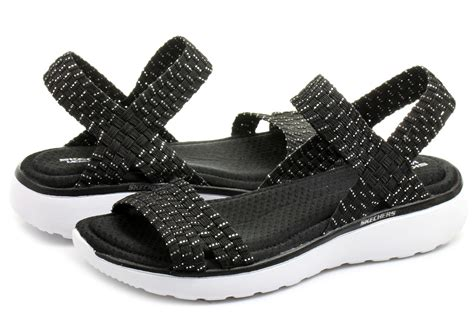footwear shoes skechers sandals warped 38596 bksl shop for