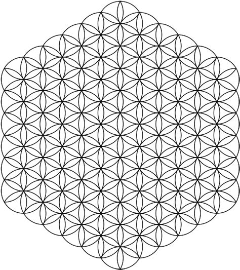 infinite designs coloring pages full flower of life