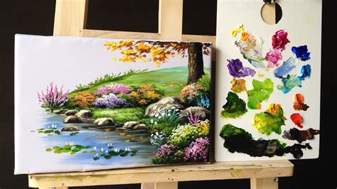 acrylic painting lessons flowers how to paint bushes flowers lesson 2 paintings