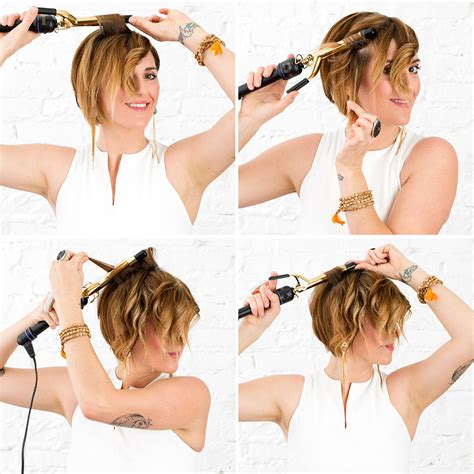 what size curling iron for pixie cut how to turn your pixie haircut into perfectly messy waves