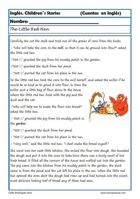 preguntas ingles traductor comprensi 243 n lectora en ingl 233 s cuentos