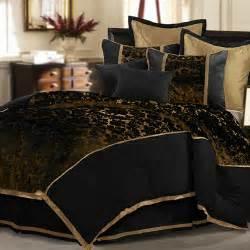 Veratex musina 8 piece comforter set black