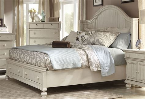 antique white bed newport antique white king panel storage bed 3720 66 pbs