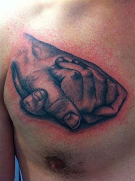 tattoo chest hold holding hands father daughter chest tattoo tattoo