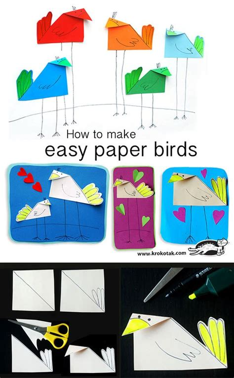 How To Make A Simple Paper Bird - the world s catalog of ideas