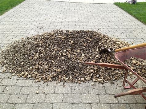Landscape Rock By The Ton Two Tons Of Small River Rock Matt S Garden