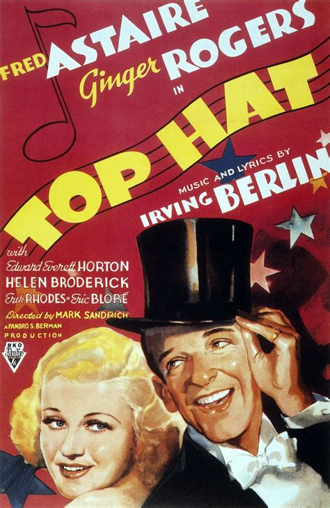 Ginger Rogers Fred Astaire Movie Posters | quot top hat quot 1935 with fred astaire and ginger rogers